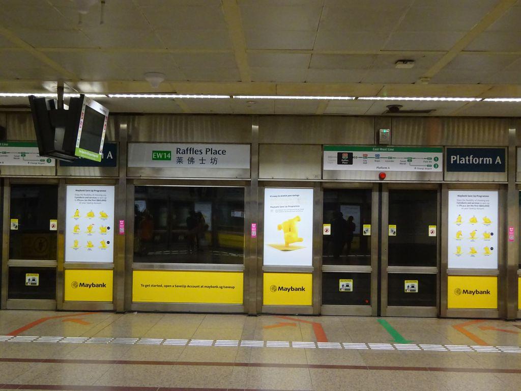 singapour raffles place metro mrt