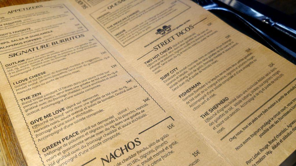 two amigos lyon menu