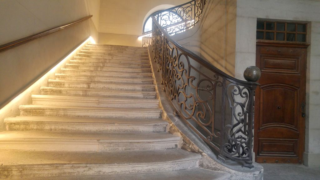 escalier hotel dieu lyon