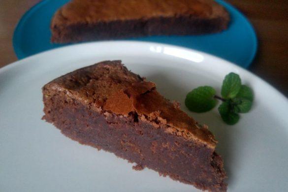 part de gateau creme de marron et chocolat fondant