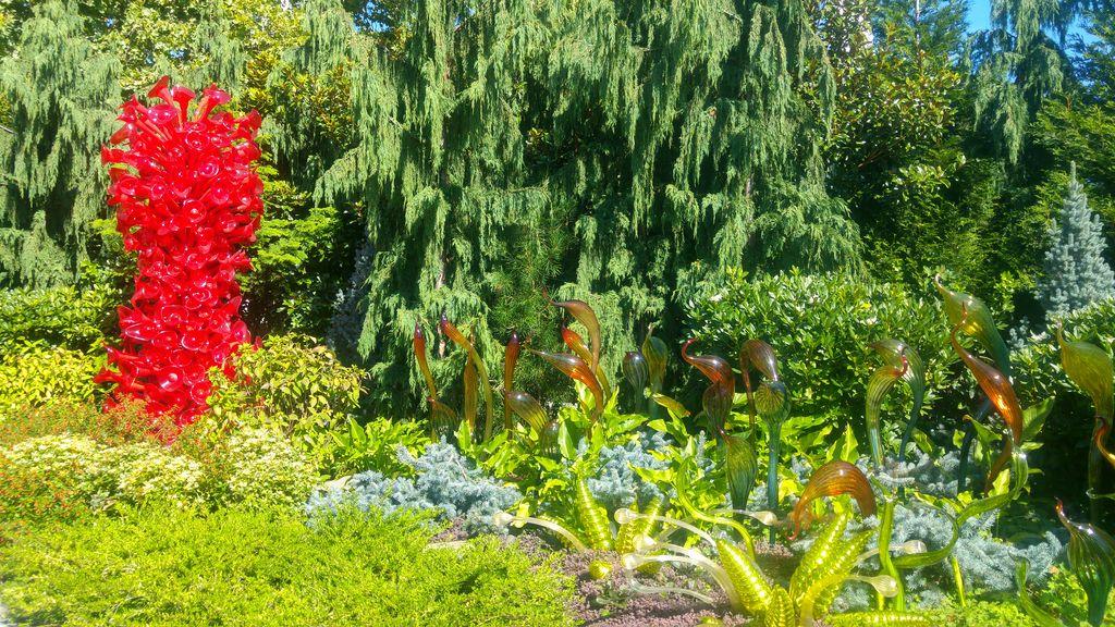 jardin fleurs de verre