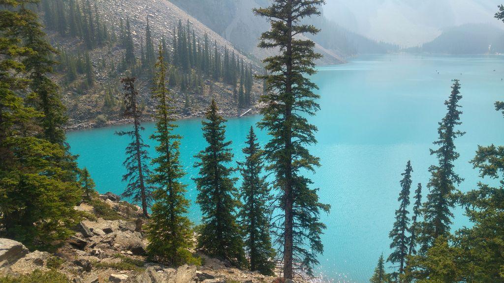 lac moraine parc de banff jasper