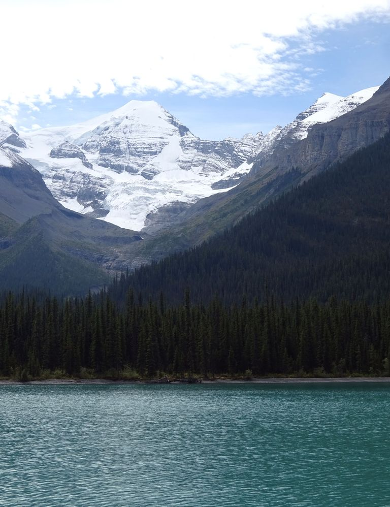 montagne au lac maligne