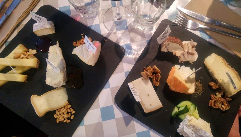 assiette degustation fromages l'instant fromages rue sainte helene