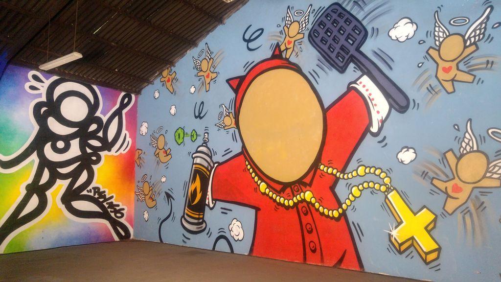 gouzou jace street art peinture fraiche lyon