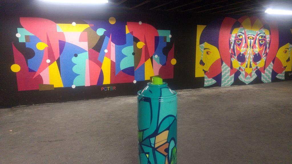 poter spray street art halle debourg