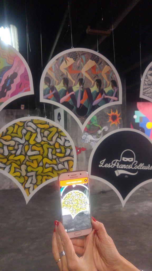 street art realite augmentee appli francs colleurs