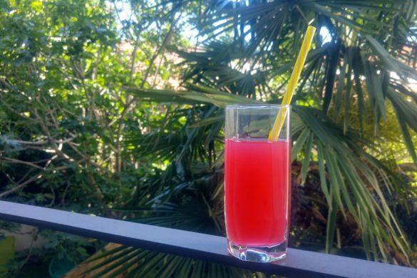 eau de rhubarbe zero dechet