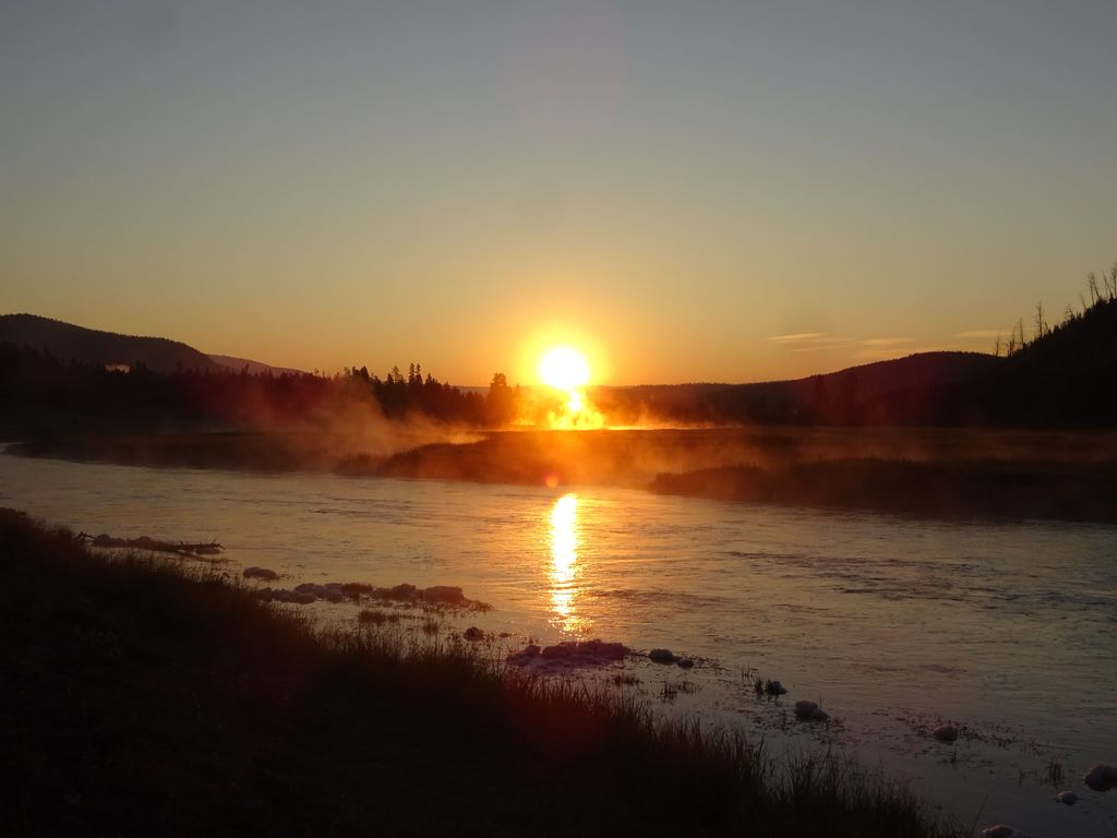 lever de soleil yellowstone