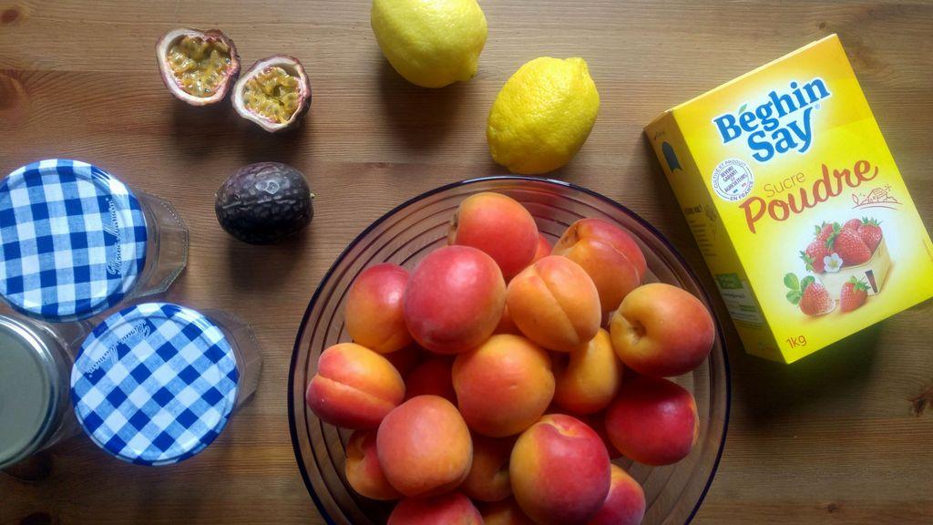 recette de confiture abricot passion