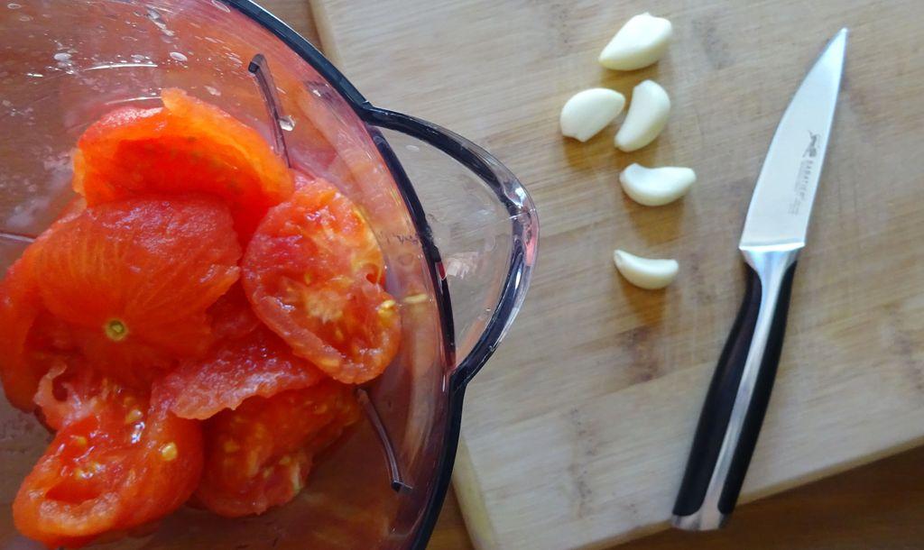 recette d'ete plat froid tomate ail