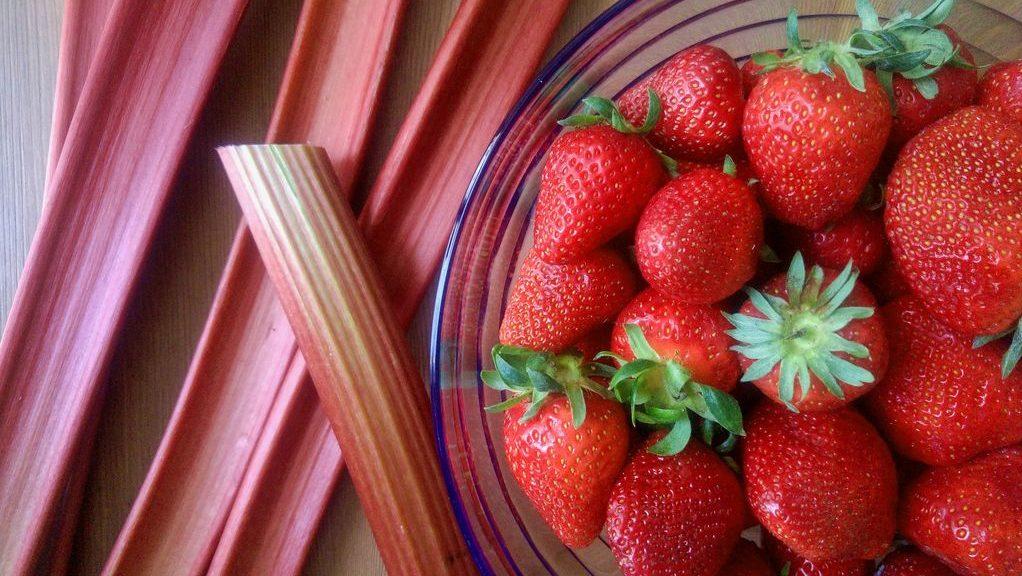 recette fraise rhubarbe