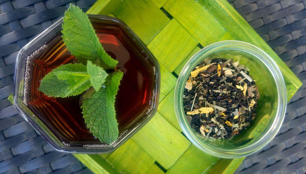 thé glacé black mojito
