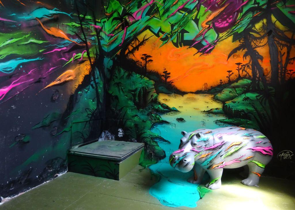 koey 84 hippopotame zoo street art show