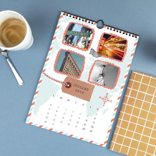 calendrier personnalise avec popcarte