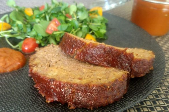 meat loaf en tranches ketchup homemade