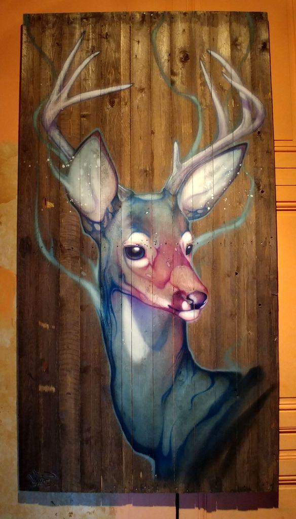 kalouf cerf daim street art