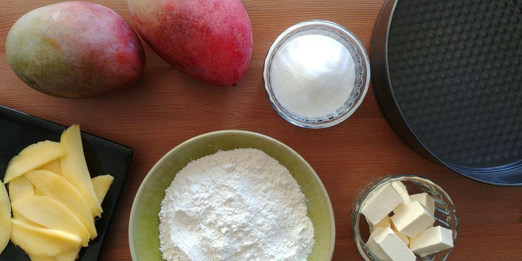recette tarte fine aux mangues