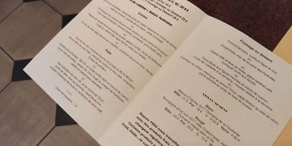 menu le canut et les gones