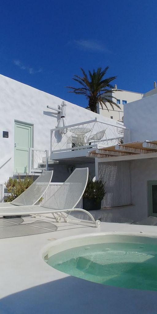 santorin villa avec piscine