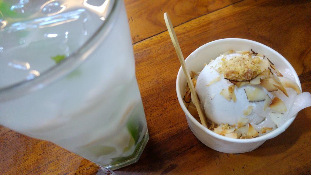 glace noix de coco chez tukies ubud