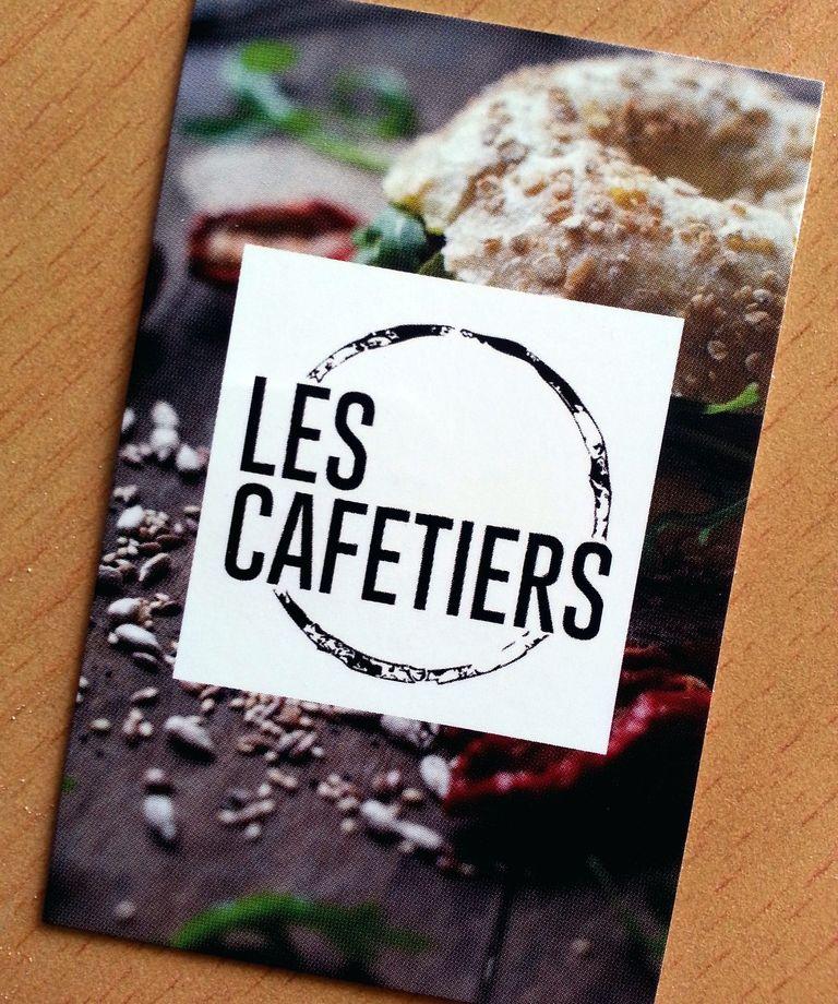 carte de visite les cafetiers