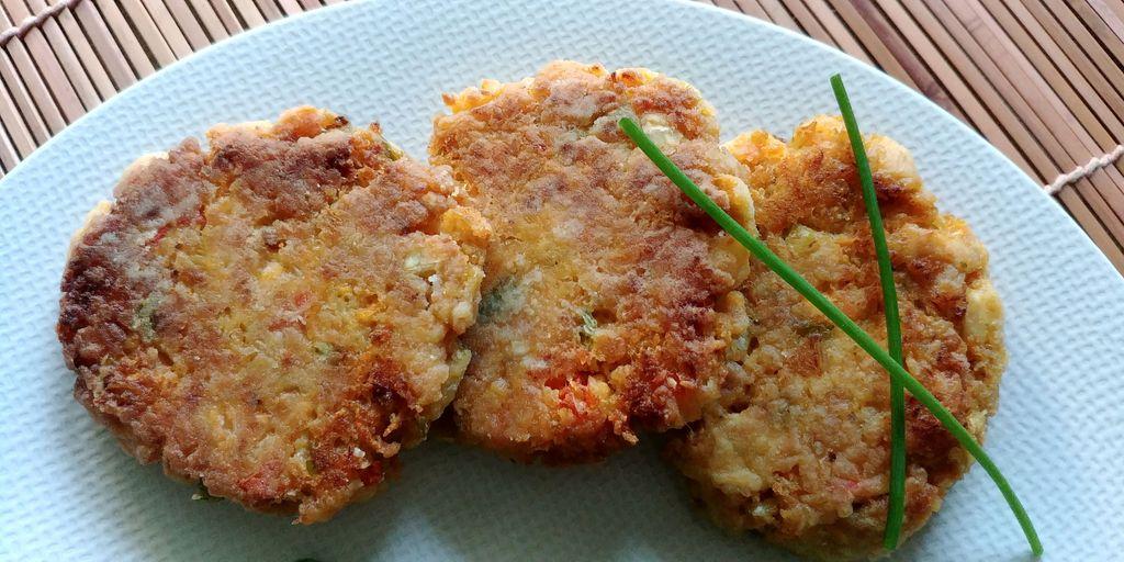 beignets de crab et legumes