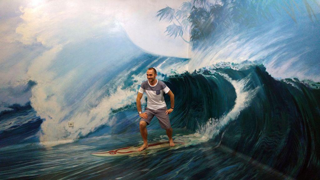 illusion d'un cours de surf