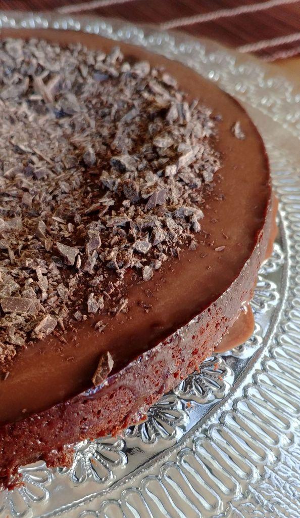 gros plan sur le gateau au chocolat sans beurre