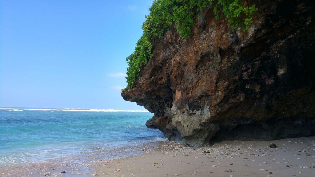 baignade sur la plage de green bowl