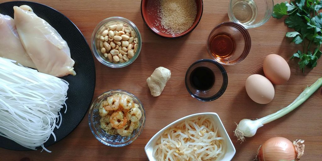 ingredients pour faire des pad thaï