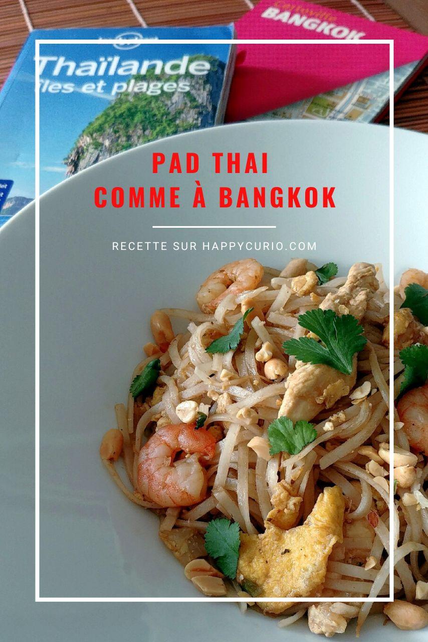 fiche recette de pad thaï