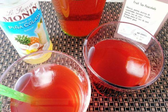 verre de thé glacé pina colada