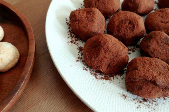 assiette de truffes tiramisu et amaretti