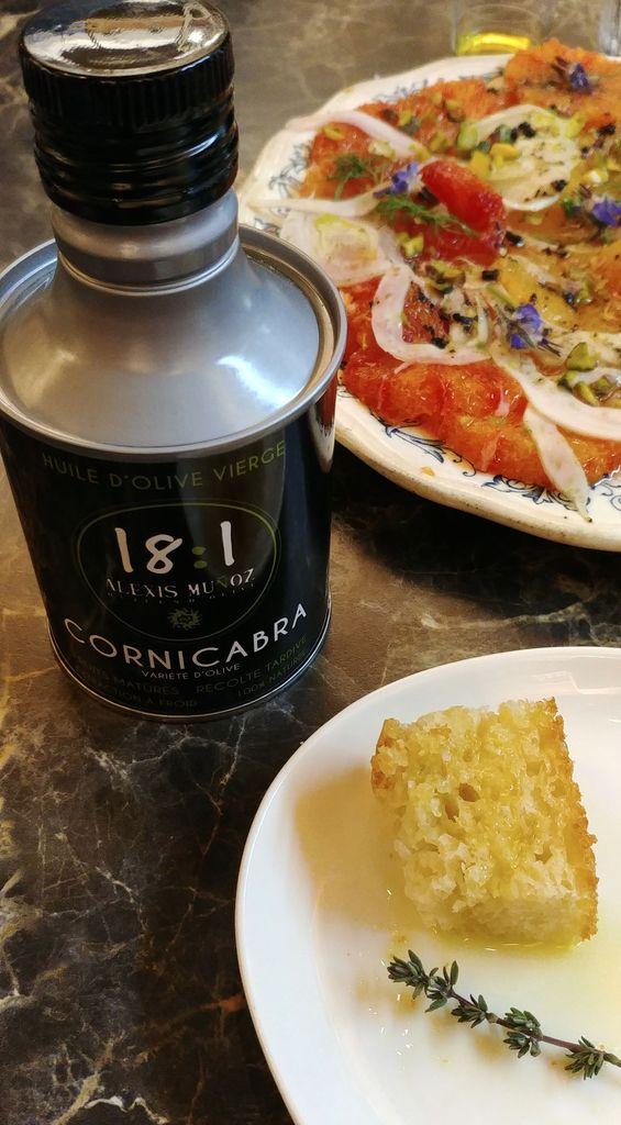 focaccia et huile d'olive