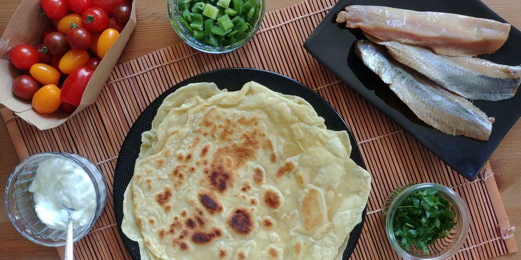 farata au hareng et ses légumes