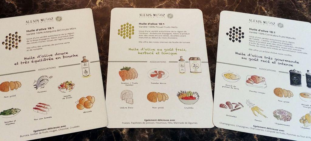 fiches degustation des huiles d'olive par alexis munoz