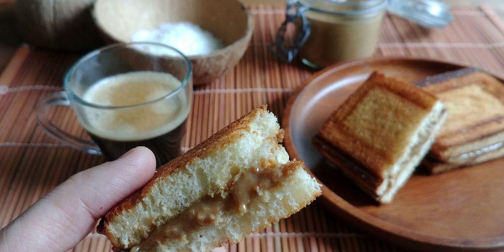 kaya toast à la pâte de noix de coco