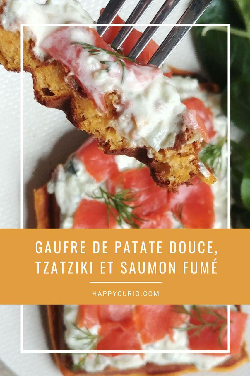 fiche recette gaufre de patate douce et saumon fumé