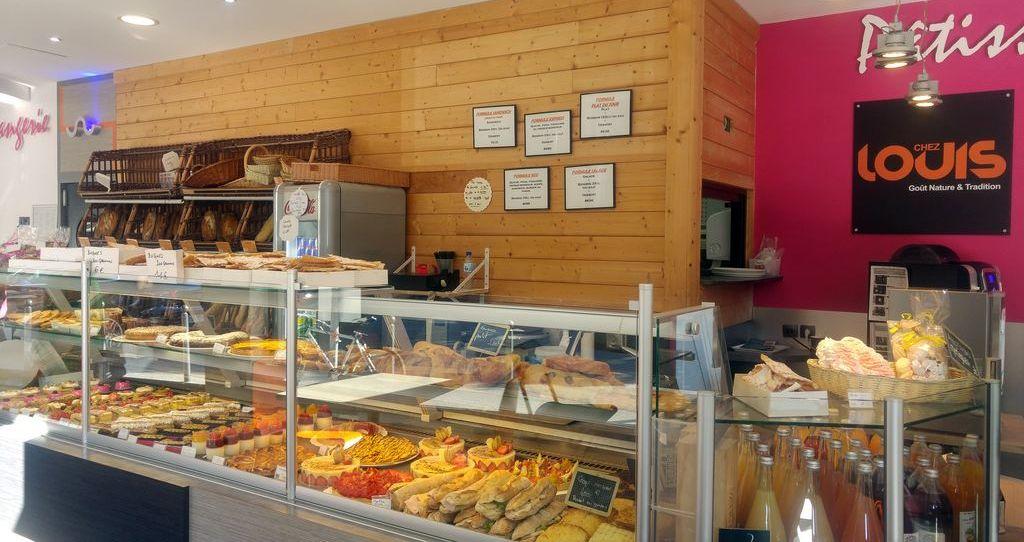 intérieur de la boulangerie chez louis