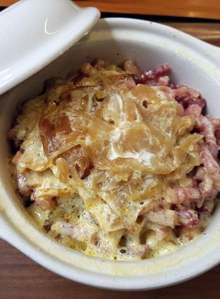cocotte de lardons pommes de terre et oignons chez mydy