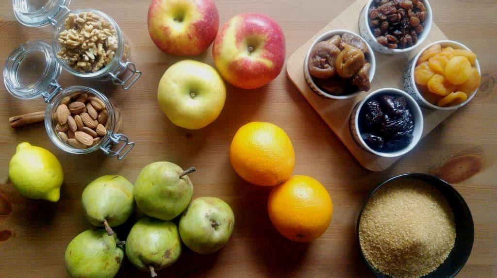 happycurio ingredients recette confiture de noel fruits secs