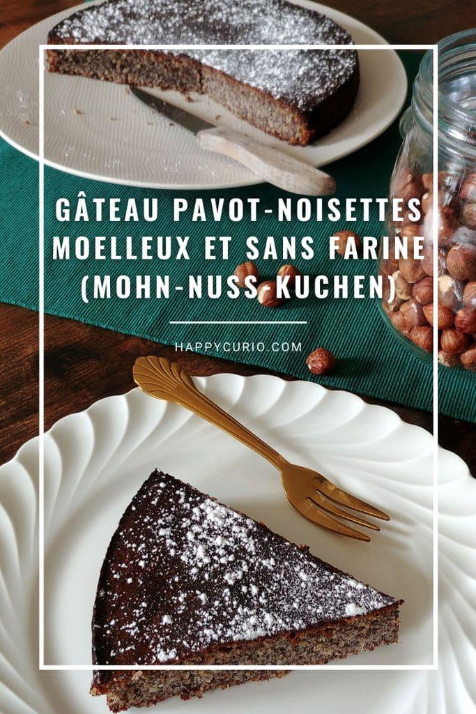 recette du gateau aux noisettes et graines de pavot