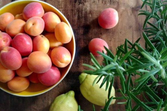 recette light de confiture d'abricot et romarin